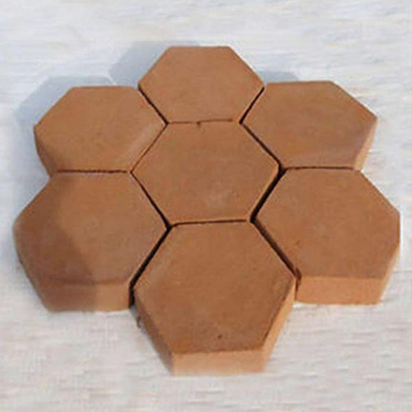 diy hexagon concrete garden path mold