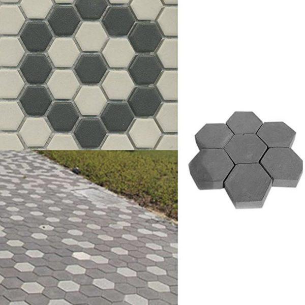 diy hexagon garden mold