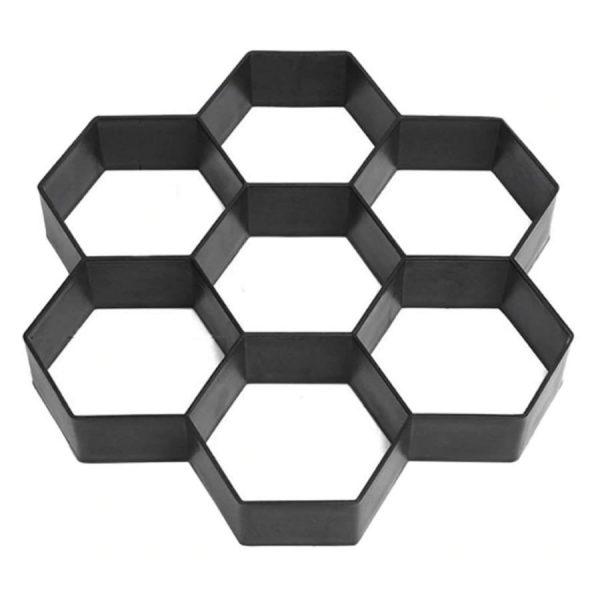 hexagon shaped concrete garden path mold